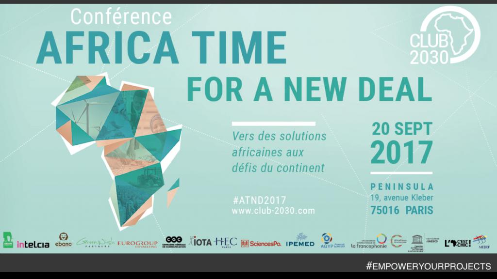 Nous sommes fiers d'être partenaire du Club Afrique 2030, pour la Conférence Africa Time for a New Deal !