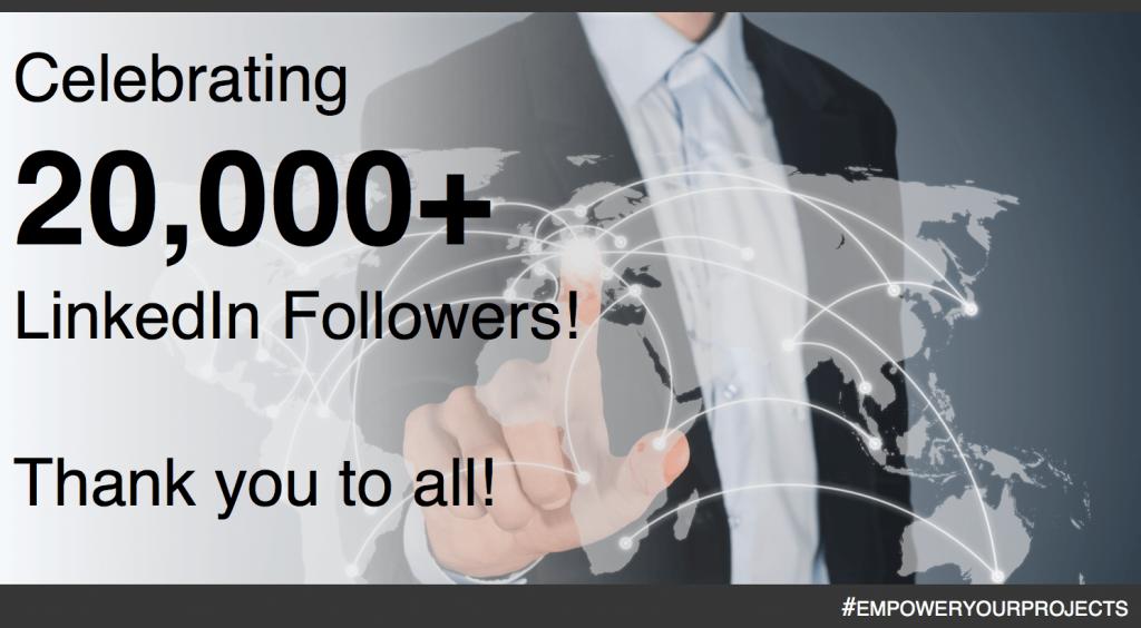 Aujourd'hui, nous célébrons nos 20 000 abonnés sur LinkedIn !