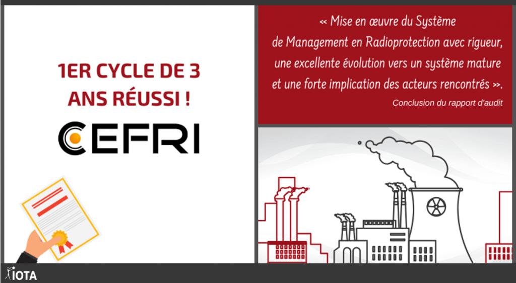 Audit CEFRI depuis 2018 « Zéro non-conformité » !